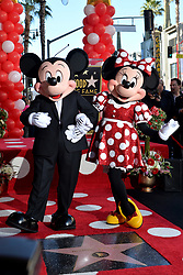 Mickey Mouse attends the ceremony honoring Minnie Mouse with a Star on The Hollywood Walk of Fame in Celebration of her 90th Anniversary at El Capitan Theatre on January 22, 2018 in Los Angeles, California. Photo by Lionel Hahn/ABACAPRESS.COM