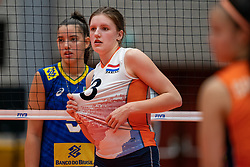Hyke Lyklema of Netherlands in action during Brazil - Netherlands, FIVB U20 Women's World Championship on July 11, 2021 in Rotterdam