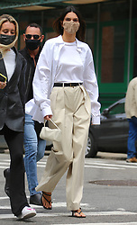 Model Kendall Jenner is walking to Bubby's restaurant in Tribeca, New York on April 27, 2021.<br /> Photo by Dylan Travis/ABACAPRESS.COM