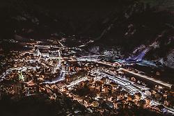 THEMENBILD - das beleuchtete Engelberg bei Nacht, aufgenommen am 14. Dezember 2018 in Engelberg, Schweiz // the illuminated Engelberg at night, Engelberg, Switzerland on 2018/12/14. EXPA Pictures © 2018, PhotoCredit: EXPA/ JFK