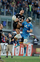 Rome, Italy -In the photo  Savea opposed by Minto during .Olympic stadium in Rome Rugby test match Cariparma.Italy vs New Zealand (All Blacks). (Credit Image: © Gilberto Carbonari).