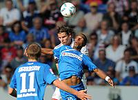 Fotball<br /> Tyskland<br /> 01.10.2011<br /> Foto: Witters/Digitalsport<br /> NORWAY ONLY<br /> <br /> v.l. Daniel van Buyten, Ryan Babel (Hoffenheim)<br /> Bundesliga, TSG 1899 Hoffenheim - FC Bayern München