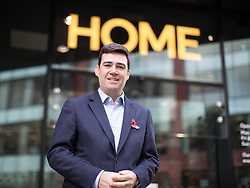 """© Licensed to London News Pictures . 10/11/2016 . Manchester , UK . Labour Party candidate ANDY BURNHAM arrives to deliver a speech and host a Q&A at the launch of the party's campaign for the Greater Manchester Mayoralty , at the """" HOME """" arts venue on Tony Wilson Place , First Street , Manchester . Photo credit : Joel Goodman/LNP"""
