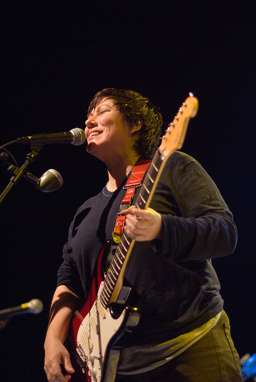 The Breeders [Kim Deal pictured] performing live at Ten Years of All Tomorrow's Parties at Butlins in Minehead. 12 December 2009.