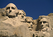 The famous Borglum sculpture of four presidents in the Black Hills of South Dakota