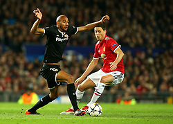 Steven N'Zonzi of Sevilla takes on Nemanja Matic of Manchester United - Mandatory by-line: Robbie Stephenson/JMP - 13/03/2018 - FOOTBALL - Old Trafford - Manchester, England - Manchester United v Sevilla - UEFA Champions League Round of 16 2nd Leg