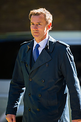 Secretary of State for Health and Social Care Jeremy Hunt arrives at 10 Downing Street to attend the weekly cabinet meeting.