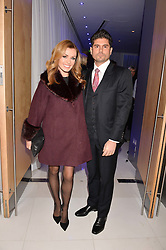 Katherine Jenkins and Andrew Levitas at the Giselle Premier VIP Party, St.Martin's Lane Hotel, London England. 11 January 2017.