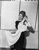 1960 - Miss Ireland, Irene Ruth Kane, visits Glen Abbey Textiles