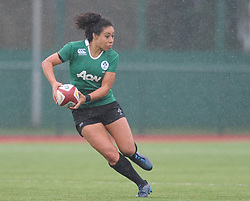 Ireland women's Sene Naoupu In action today<br /> <br /> Photographer Mike Jones/Replay Images<br /> <br /> International Friendly - Wales women v Ireland women - Sunday 21st January 2018 - CCB Centre for Sporting Excellence - Ystrad Mynach<br /> <br /> World Copyright © Replay Images . All rights reserved. info@replayimages.co.uk - http://replayimages.co.uk