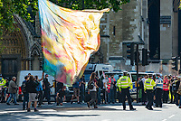 Extinction Rebellion protester at the demonstration in Parliament Square.Photo by Mark Anton Smith