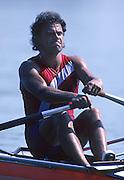 Barcelona, SPAIN.  CZE M1X, Vaclav CHULUPA, silver medalist.  1992 Olympic Rowing Regatta Lake Banyoles, Catalonia [Mandatory Credit Peter Spurrier/ Intersport Images]