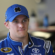Driver Parker Kligerman is seen near the garage area during the 56th Annual NASCAR Daytona 500 practice session at Daytona International Speedway on Saturday, February 22, 2014 in Daytona Beach, Florida.  (AP Photo/Alex Menendez)