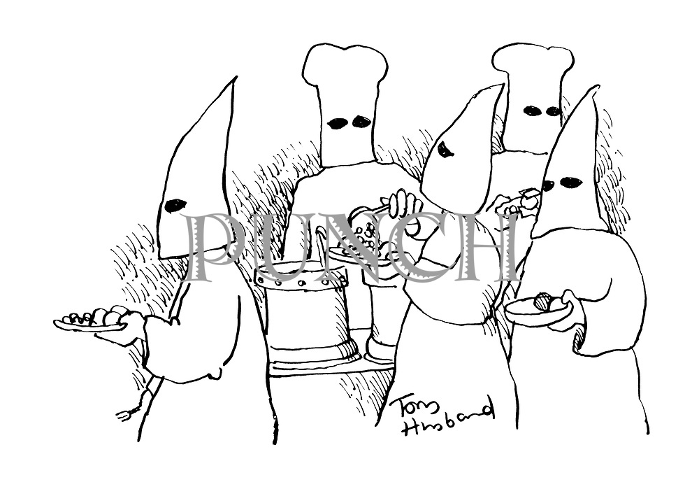 (Klu Klux Klan members and chefs)