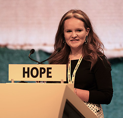 SNP Spring Conference, Saturday 27th April 2019<br /> <br /> Pictured: Young Scots for Independence speaker Robyn Graham<br /> <br /> Alex Todd | Edinburgh Elite media