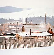 Village on Olkhan Island, Siberia, Russia