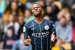 Raheem Sterling of Manchester City cuts a frustrated figure - Mandatory by-line: Robbie Stephenson/JMP - 25/08/2018 - FOOTBALL - Molineux - Wolverhampton, England - Wolverhampton Wanderers v Manchester City - Premier League