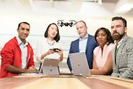 Booz Allen Hamilton employees work at the Booz Allen Innovation Center in Washington, DC. © Brett Wilhelm