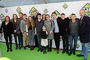 Zappbios Premiere Telefilms van 2014 in Pathé ArenA, Amsterdam ZO. Een van de grootste kinderpremières ooit met honderden scholieren.<br /> <br /> Op de foto:  Cast van de telefilm JONGENS met o.a. Gijs Blom, Ko Zandvliet, Jonas Smulders, Ton Kas, Ferdi Stofmeel, Stijn Taverne, Julia Akkermans,
