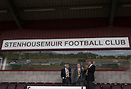 Directors of Alloa Athletc football club pictured at Ochilview stadium, Larbert, before their Irn Bru Scottish League second division match against Stenhousemuir. Alloa won the match by one goal to nil against their local rivals in a match watched by 619 spectators.