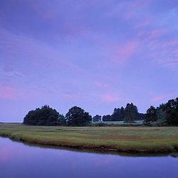 Kennebunk, ME. The Mousam River and the Rachel Carson National Wildlife Refuge. Salt marsh.  Tidal river.