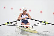Shunyi, CHINA.  Women's single sculls, semi final A/B,  CZE W1X Miroslava KNAPKOVA, at the 2008 Olympic Regatta, Shunyi Rowing Course. Wed 14.08.2008 [Mandatory Credit: Peter SPURRIER, Intersport Images]