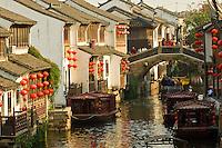 Boats on canal, Suzhou, China