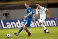 Fotball , 5. september 2008 , VM-kvalik,<br /> Norge - Island 1-1<br /> Norway - Iceland<br /> Brynjar Börn Gunnarsson , Island