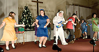 Charlie Brown Christmas rehearsal at Evangelical Baptist Church