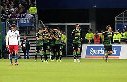 02.11.2013, Imtech Arena, Hamburg, GER, 1. FBL, Hamburger SV vs Borussia Moenchengladbach, 11. Runde, im Bild Max Kruse (Gladbach) bejubelt das 0:2 // during the German Bundesliga 11th round match between Hamburger SV and Borussia Moenchengladbach at the Imtech Arena in Hamburg, Germany on 2013/11/02. EXPA Pictures © 2013, PhotoCredit: EXPA/ Eibner-Pressefoto/ Latendorf<br /> <br /> *****ATTENTION - OUT of GER*****