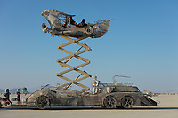 When your mutant vehicle also acts as an elevated platform to watch burns and events. Has anyone built a bike that does this?