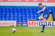 Ipswich Town defender Mark McGuiness (2) passes the ball during the EFL Sky Bet League 1 match between Ipswich Town and Peterborough United at Portman Road, Ipswich, England on 23 January 2021.