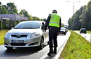 Nederland, Beek Ubbergen, 14-9-2017Extra grenscontrole op de n325 door de Marechaussee aan de grens met Duitsland. Vliegende brigade, mobiel banditisme: rondtrekkende bendes die zich bezighouden met onder meer inbraken en plofkraken.Foto: Flip Franssen
