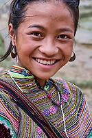 Vietnam. haut Tonkin. Region de Sapa. Hmong Fleur. // Vietnam. North Vietnam. Sapa area. Flower Hmong.