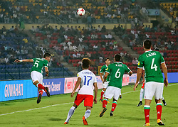 October 14, 2017 - Guwahati, Assam, India - Moments from FIFA U-17 World Cup Group E match between Mexico vs Chile. .In a Group E match of the FIFA U-17 World Cup, Mexico, Chile Play out goalless draw. Mexico will enter the Round of 16. All they needed was a point to qualify. (Credit Image: © Vikramjit Kakati via ZUMA Wire)