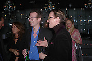 Ashley Hicks and Hamish Bowles. party given by Daphne Guinness for Christian Louboutin  after the opening of his new shopt.  Baglione Hotel. 16 March 2004.  ONE TIME USE ONLY - DO NOT ARCHIVE  © Copyright Photograph by Dafydd Jones 66 Stockwell Park Rd. London SW9 0DA Tel 020 7733 0108 www.dafjones.com