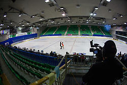 Xibei Li and Guangyao Xiang of China at ISU Junior Grand Prix of Figure Skating Ljubljana Cup 2014 on August 29, 2014 in Hala Tivoli, Ljubljana, Slovenia. Photo by Matic Klansek Velej / Sportida