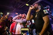 WASHINGTON, DC - December 15th, 2017 - Q Da Fool performs with Fat Trel at U Street Music Hall in Washington, D.C.  (Photo by Kyle Gustafson / For The Washington Post)