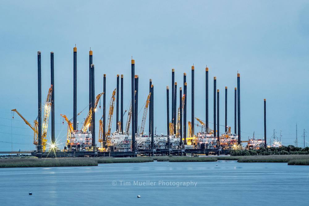 Offshore Marine Contractors dock, Leeville, LA
