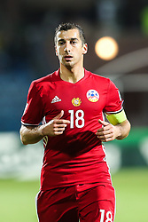 October 5, 2017 - Yerevan, Armenia - Henrikh Mkhitaryan (ARM), during the FIFA World Cup 2018 qualification football match between Armenia and Poland in Yerevan on October 5, 2017. (Credit Image: © Foto Olimpik/NurPhoto via ZUMA Press)