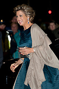 Nederland bedankt Beatrix in Ahoy ,Rotterdam. Nederlanders brengen een muzikale ode als dank voor 33 jaar koningschap.<br /> <br /> The Netherlands thanks Beatrix in Ahoy, Rotterdam. Dutch pay a musical tribute of thanks for 33 years of reign.<br /> <br /> Op de foto / On the photo: <br />  Queen Maxima