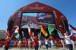 June 14, 2018 - Saint Petersburg, Russia - June 14, 2018. - Russia, Saint Petersburg. - Football fans visit 2018 FIFA World Cup Fan Fest. (Credit Image: © Russian Look via ZUMA Wire)