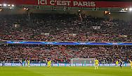 PSG fans behind the goal during the Champions League match between Paris Saint-Germain and Chelsea at Parc des Princes, Paris, France on 17 February 2015. Photo by Phil Duncan.