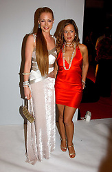 Left to right, CAT DEELEY and  JADE JAGGER at the Moet & Chandon Fashion Tribute 2005 to Matthew Williamson, held at Old Billingsgate, City of London on 16th February 2005.<br /><br />NON EXCLUSIVE - WORLD RIGHTS