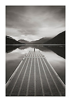Boat dock Lake Crescent Olympic National Park