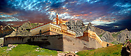 18th Century Ottoman architecture of the Ishak Pasha Palace (Turkish: İshak Paşa Sarayı) ,  Ağrı province of eastern Turkey. .<br /> <br /> If you prefer to buy from our ALAMY PHOTO LIBRARY  Collection visit : https://www.alamy.com/portfolio/paul-williams-funkystock/ishak-pasha-palace-turkey.html<br /> <br /> Visit our TURKEY PHOTO COLLECTIONS for more photos to download or buy as wall art prints https://funkystock.photoshelter.com/gallery-collection/3f-Pictures-of-Turkey-Turkey-Photos-Images-Fotos/C0000U.hJWkZxAbg