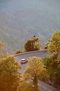 A country road near Col de la Faucille, Jura region, France