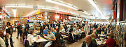 Multiple stitched-image panorama of Katz's Delicatessen, Manhattan, New York