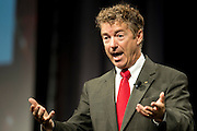 Kentucky Sen. Rand Paul speaks during the Defending the American Dream Summit hosted by Americans For Prosperity at the Omni Hotel in Dallas, Texas on August 29, 2014. (Cooper Neill for The New York Times)