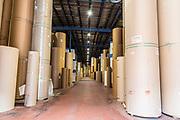 Brown Paper storage a corrugated cardboard manufacturing plant